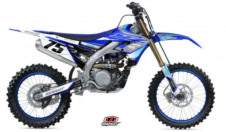 Yamaha YZ-F Dekor 'DSG1 Blau-Grau'