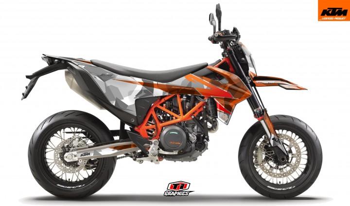 KTM 690 SMC-R Dekor 'Camo - Orange'