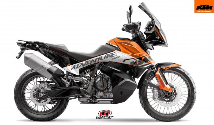 KTM 790 Adventure Dekor 'Highlines Orange'