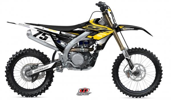 Yamaha YZ-F Dekor 'DSG1 Gelb-Schwarz'