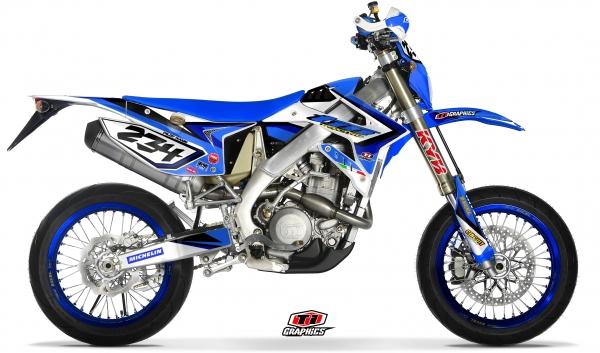 TM Racing 4-Takt EN & SMR Dekor 'DSG1 blau'