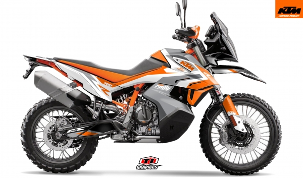KTM 790 Adventure Dekor 'Rally-R' Grau