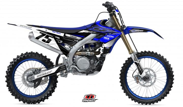 Yamaha YZ-F Dekor 'DSG1 Blau-Schwarz'