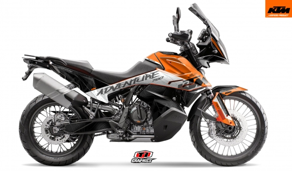 KTM 790 Adventure Dekor 'Highlines Orange'
