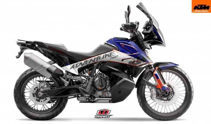 KTM 790 Adventure Dekor 'Highlines Blue'