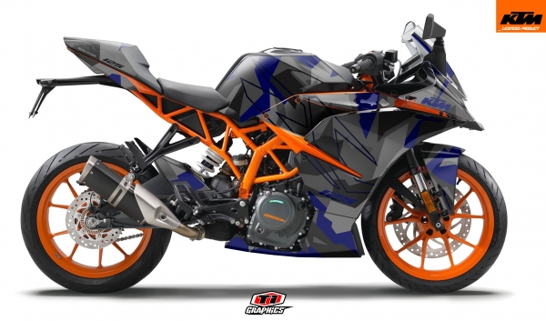 KTM RC 125 / 390 Dekor 'Camo - Blau'