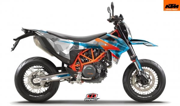 KTM 690 SMC-R Dekor 'Camo - Hellblau'