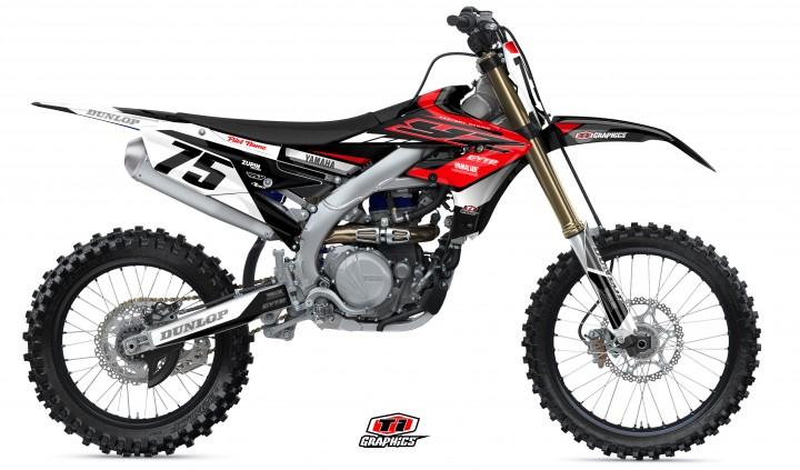 Yamaha YZ-F Dekor 'DSG1 Rot-Schwarz'