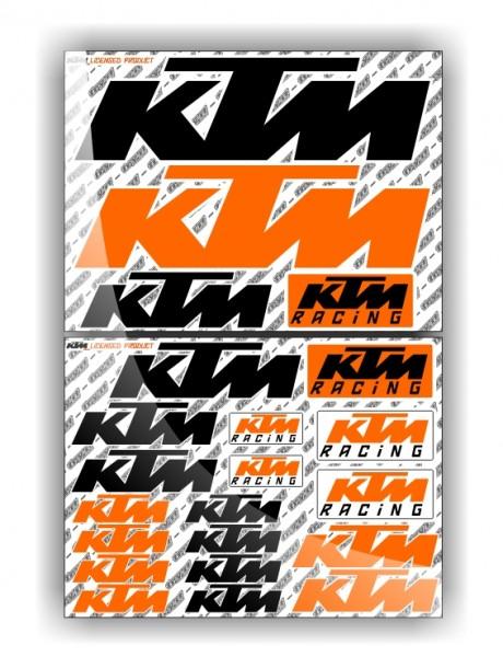 KTM Stickerbogen