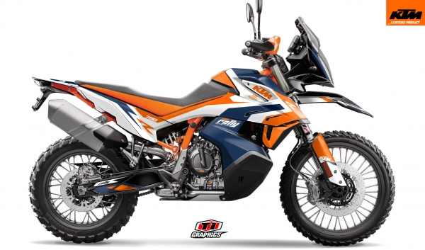 KTM 790 Adventure Dekor 'Rally-R' Factory-Blue