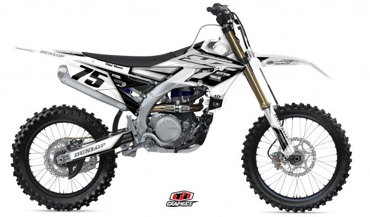 Yamaha YZ-F Dekor 'DSG1 Weiß-Grau'