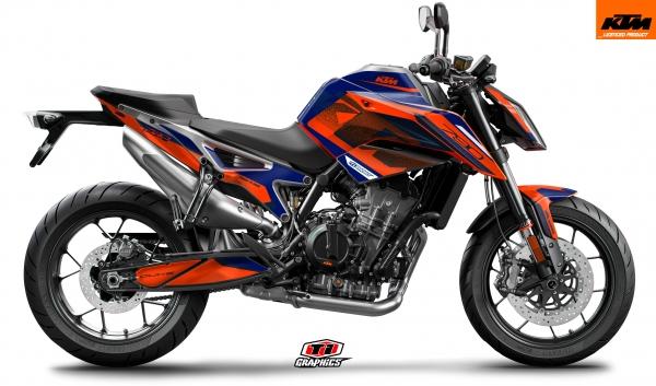 KTM 790 Duke Dekor 'Square -Blau-Orange'