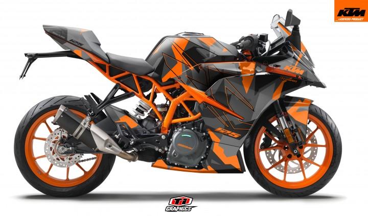 KTM RC 125 / 390 Dekor 'Camo - Orange'