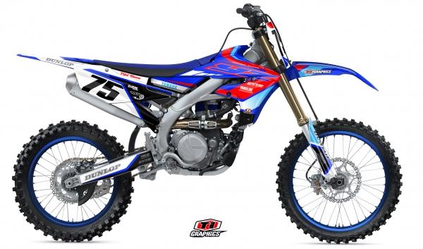 Yamaha YZ-F Dekor 'DSG1 Blau-Rot'