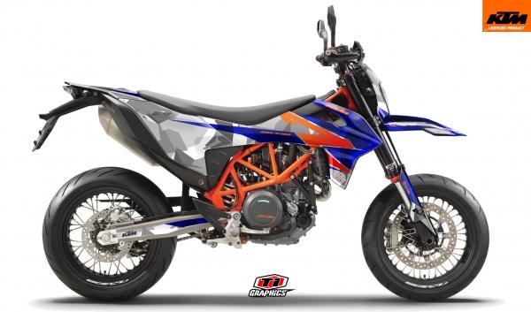 KTM 690 SMC-R Dekor 'Camo - Blau'