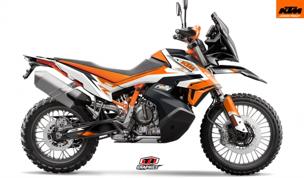 KTM 790 Adventure Dekor 'Rally-R' Schwarz
