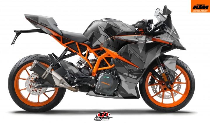 KTM RC 125 / 390 Dekor 'Camo - Grau'
