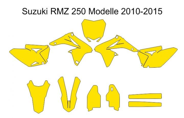 Suzuki RM-Z 250 2010-2015 Umrisse