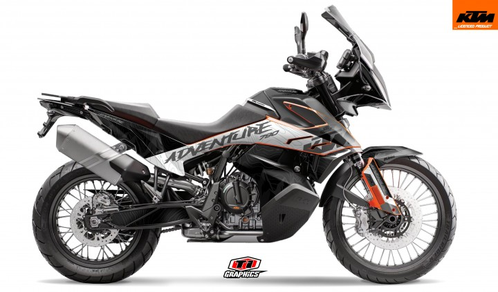KTM 790 Adventure Dekor 'Highlines Grey'