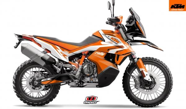 KTM 790 Adventure Dekor 'Rally-R' Orange