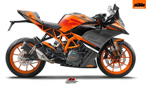 KTM RC 125 / 390 Dekor 'Square - Orange'