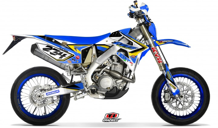 TM Racing 4-Takt EN & SMR Dekor 'DSG1 blau-gelb'
